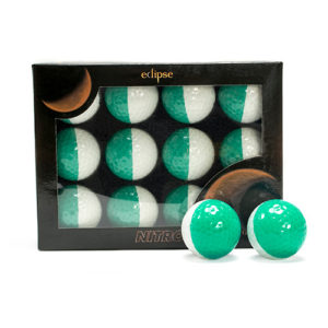 Eclipse Green Colored Golf Balls