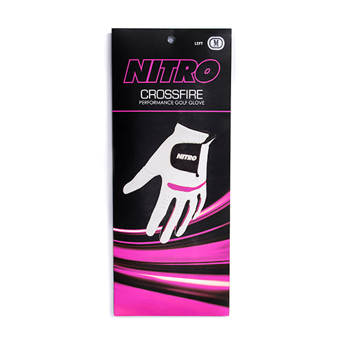 Crossfire Pink Golf Gloves